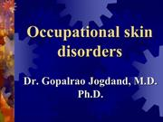 Occupational skiin disorders