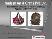Black Shoulder Hippie Bag by Sudesh Art & Crafts Pvt. Ltd., Delhi