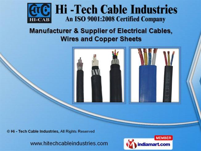 Cables And Wires by Hi - Tech Cable Industries, Jaipur |authorSTREAM