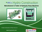 Embossing Bags & Hydraulic Machines by Hydro Construction, Coimbatore