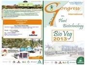 Invitation to Intl Congress on Plant Biotechnology BioVeg2013