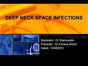 DEEP NECK SPACE INFECTIONS by  dr avinava ghosh