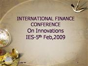 International conference ppt