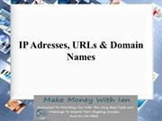 IP Adresses, URLs & Domain Names