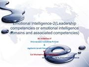 Emotional Intelligence-2(Leadership competencies)