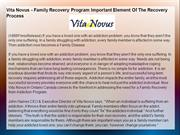 Vita Novus - Family Recovery Program Important Element