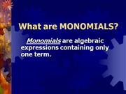 Multiplication Of Monomials
