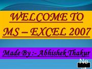 MS -Excel 2007