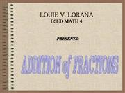 Addition Of  Fraction