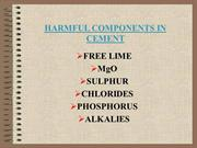 05.EFFECTS OF HARMFUL COMPONENTS IN CMENTS