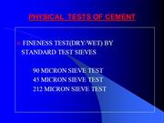 CEMENT PHYSICAL TESTS
