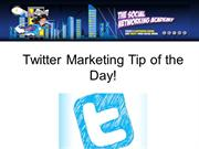 Twitter Marketing Tip