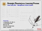 Case #5 - MCS - Strategic Planning as a Learning Process - Rev