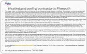heating and cooling contractor in Plymouth