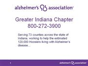 Alzheimer's Presentation Without Video