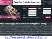 Get A Bad Credit Business Loan