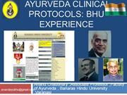Ayurveda Clinical Protocol : BHU Experiences