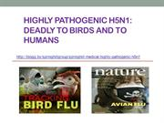 Springhill Group, H5N1 Deadly to Birds and to Humans