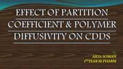 EFFECT OF PARTITION COEFFICIENT & POLYMER DIFFUSIVITY ON