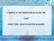 Directors Identification Number Note