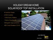 Holiday Dream Home Solar Electric System