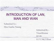Introductionof LAN.MAN&WAN
