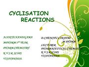 CYCLISATION REACTIONS