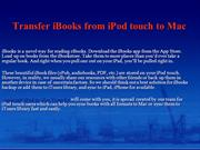 How to Transfer iBooks from iPod touch to Mac