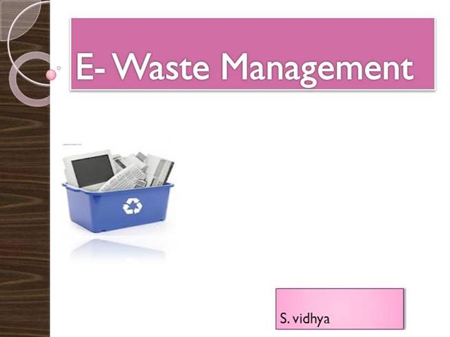 EWastePpt Authorstream