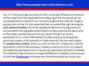 Cash Advance Payday Loan. Up to $1500 overnight - no faxing!