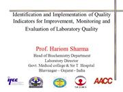 Quality Indicators by Prof Hariom Sharma