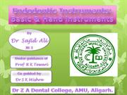 Endodontic Instruments basic and hand