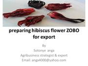 preparing hibiscus flower ZOBO for export