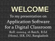 Application software for a digital classroom