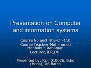 Computer and information systems