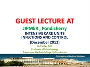 Guest Talk ICU Infections