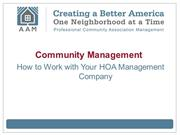 Community Management: How to Work with Your HOA Management Company