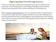 Organising a Beach front Marriage ceremony
