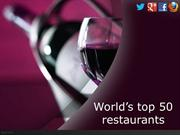 World's top 50 restaurants