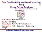 Data Confidentiality and Loss Prevention using VPD