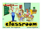 Classroom objects chant