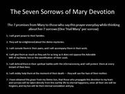 Seven Sorrows of Mary Prayer