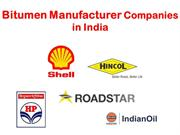 Bitumen Manufacturer Companies in India