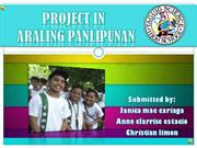 PROJECT IN Araling Panlipunan