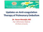 Anti-Coagulation ACCP Guidelines in PE