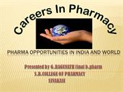 career in pharmacy
