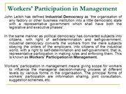 worker participation in management