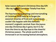 Leawo Software's Christmas One-day Gift - Blu-ray to MKV Converter Tot