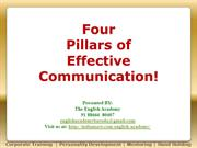 Four Pillars of Effective Communication1