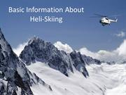 Basic Information About Heli-Skiing